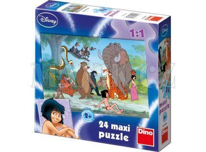 Dino Disney Puzzle Maxi Kniha džunglí 24dílků