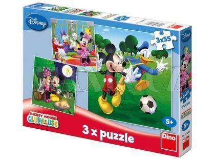 Dino Disney Puzzle Mickey Mouse 3x55dílků