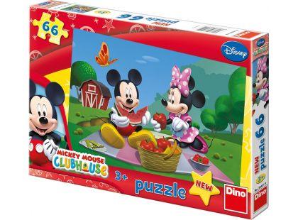 Dino Disney Puzzle Mickey Mouse na pikniku 66dílků