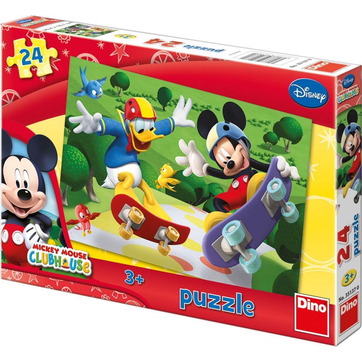 Dino Disney Puzzle Mickey na skateboardu 24dílků