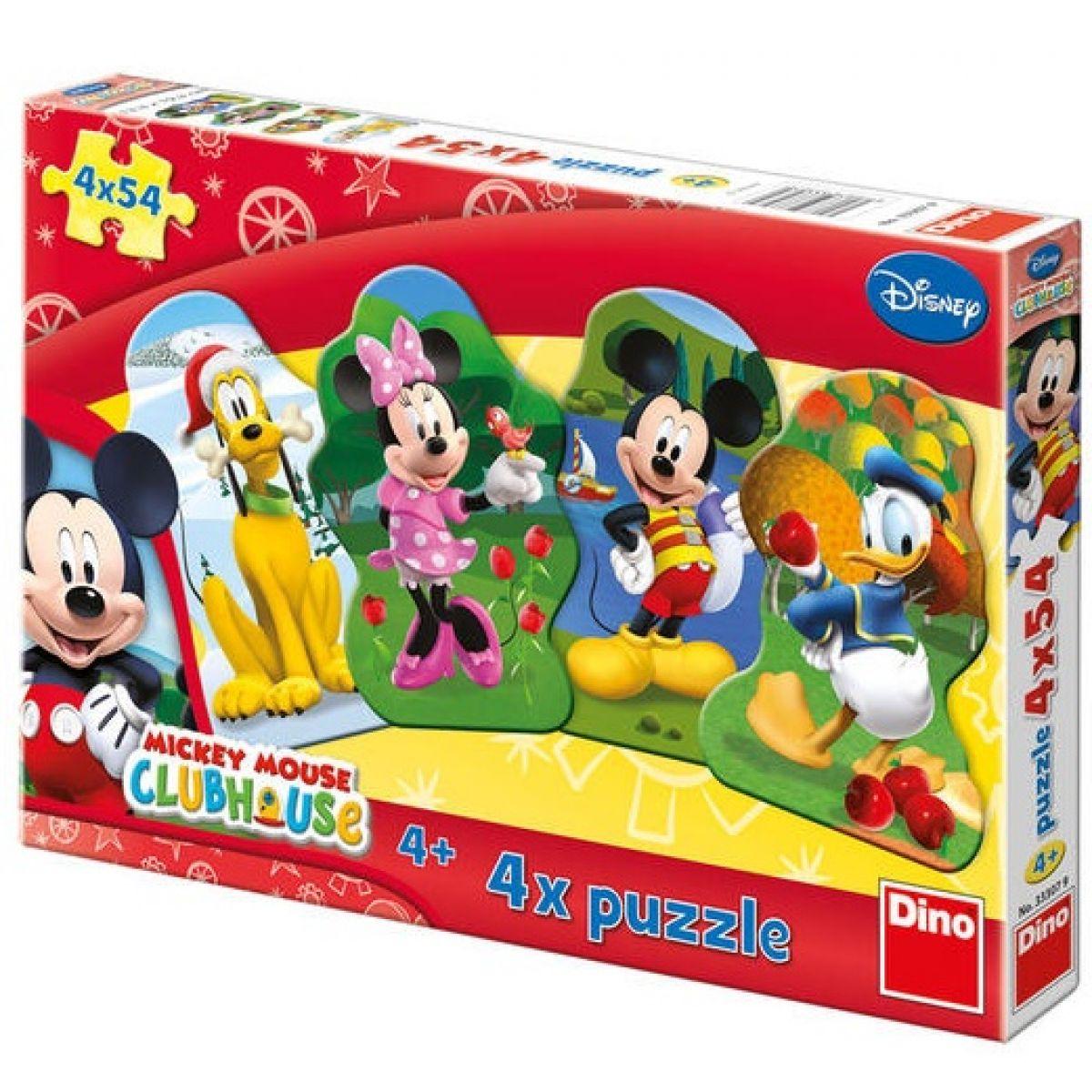 Dino Disney Puzzle Mickeyho klubík 4x54d