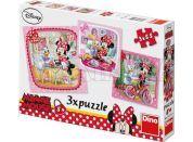 Dino Disney Puzzle Minnie na návštěvě 3x55dílků