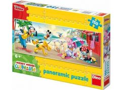Dino Disney Puzzle Panoramic Mickey Mouse Club House 150dílků