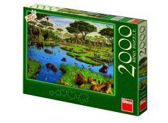 DINO Divoká zvířata 2000 dílků