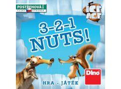 Dino Doba Ledová Cestovní hra 3-2-1 Nuts!