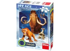 Dino Doba Ledová Puzzle Neon 100XL dílků