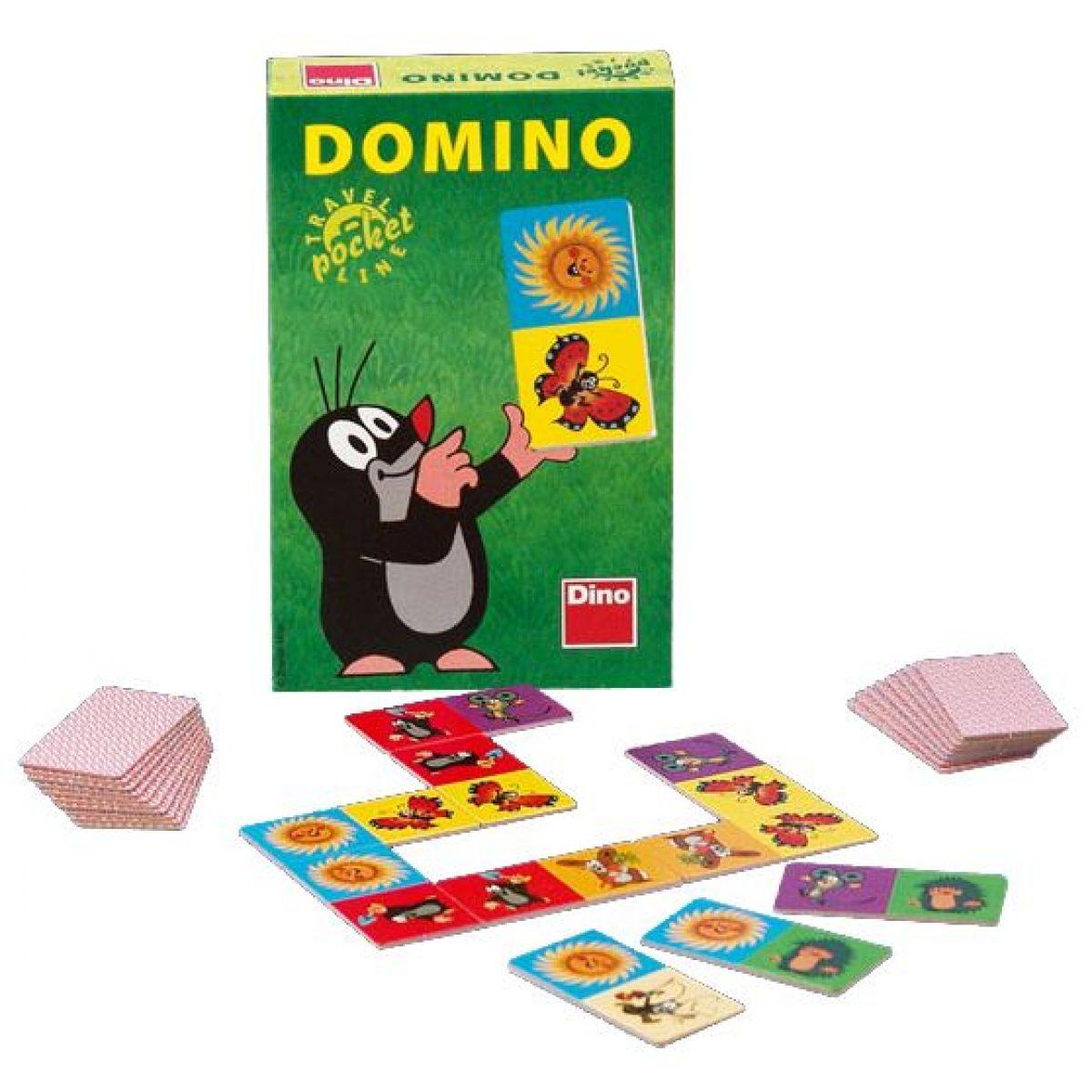 Dino Domino Krtek společenská hra na cesty 28ks