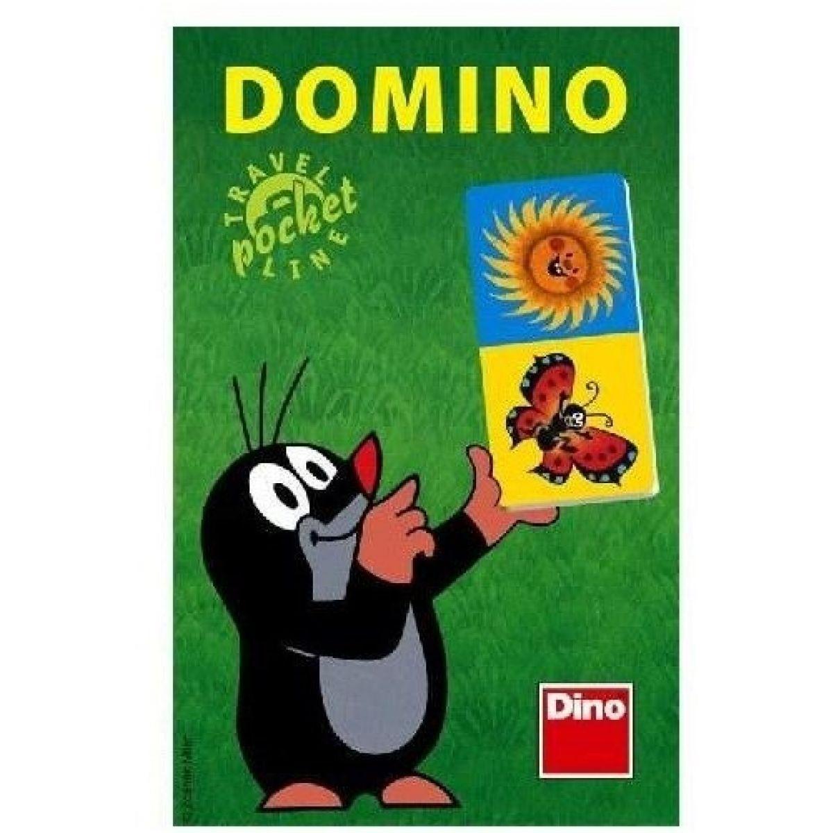 Dino Domino Krtek společenská hra na cesty 28ks #2