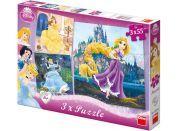 Dino Dětské puzzle 3v1 Disney Princezny