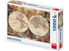 Dino Historická mapa 1000 dílků puzzle
