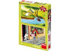 Dino Holky z pohádky puzzle 2 x 48 dílků