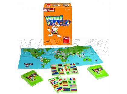 Dino Hravé vlajky společenská hra v krabičce