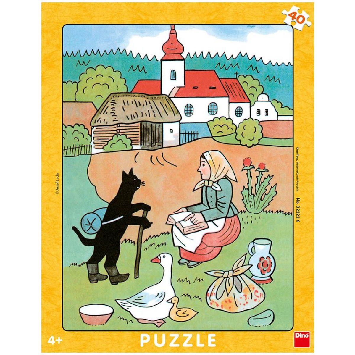 Dino Josef Lada Mikeš Na Vandru deskové puzzle 40 dílků