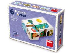Dino Kachna 6 dřevěné kostky