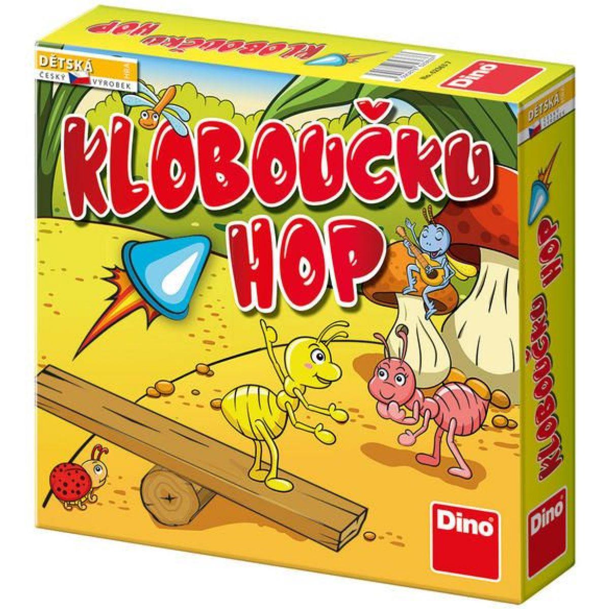 Dino Kloboučku Hop - dětská hra