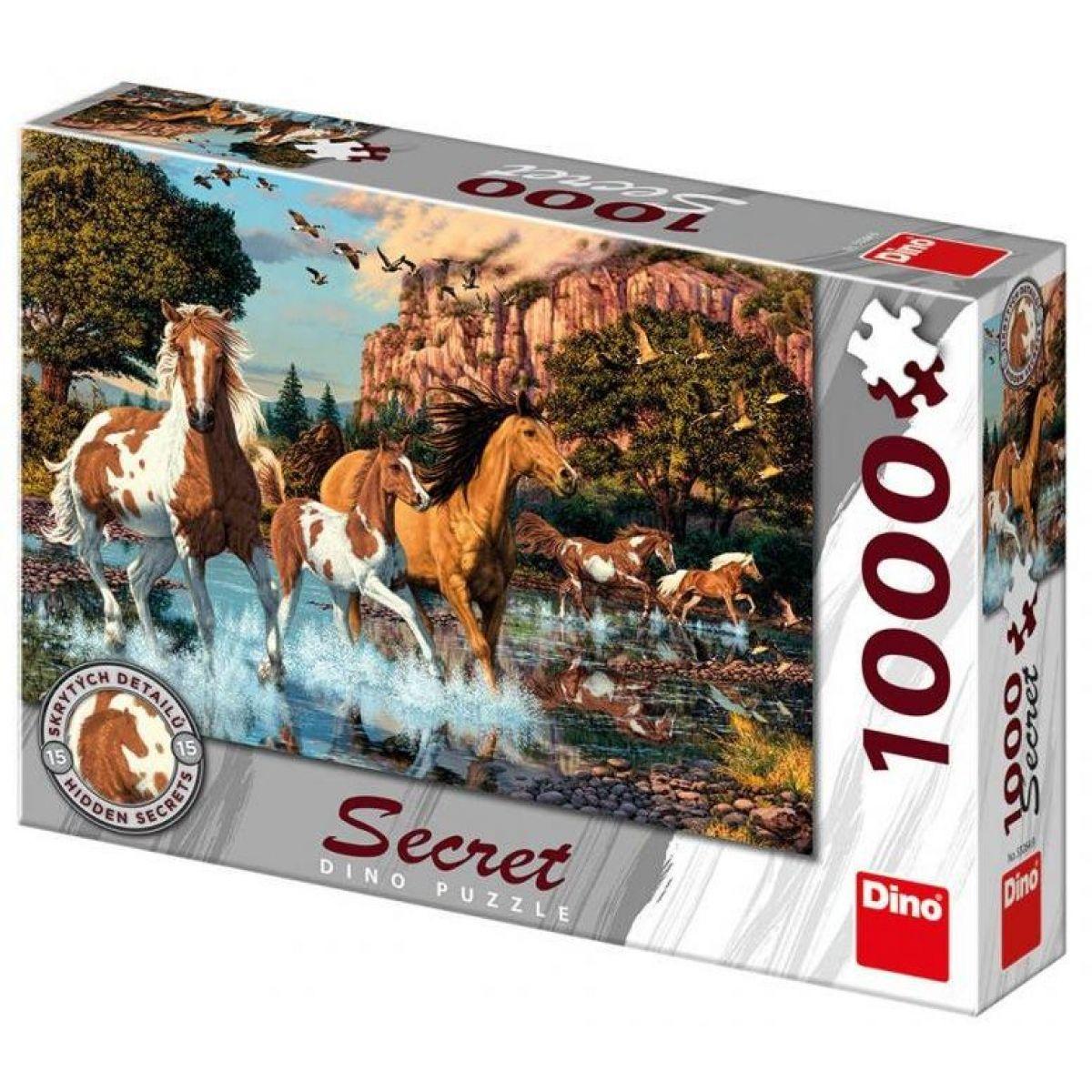 Dino Koně secret collection puzzle 1000 dílků