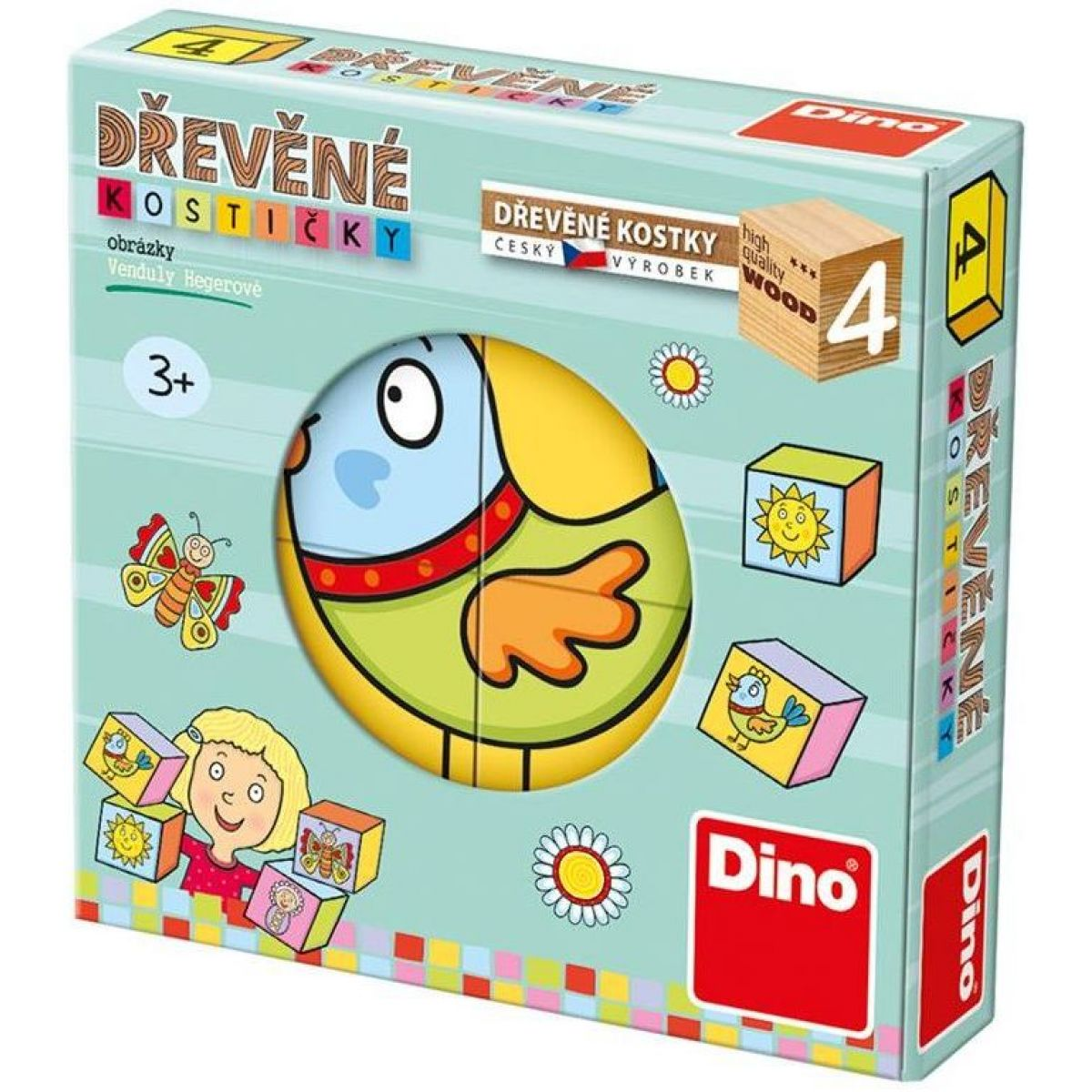 Dino Kostičky pro nejmenší dětičky 4 ks
