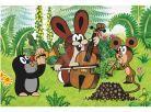 Dino Kostky dřevěné kubus Krtek a přátelé 6ks 5