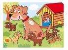 Dino Kostky kubus Domácí zvířátka dřevo 12ks 4