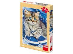 Dino Kotě v modré botě XL puzzle 300 dílků