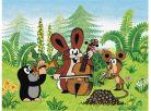 Dino Krteček Dřevěné kostky 12ks Krtek a přátelé 4