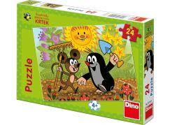 Dino Krteček Puzzle Krtek a myška 24dílků