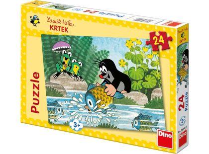 Dino Krteček Puzzle Krtek a rybka 24dílků