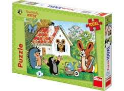Dino Krteček Puzzle Krtek Stavitel 100XL dílků