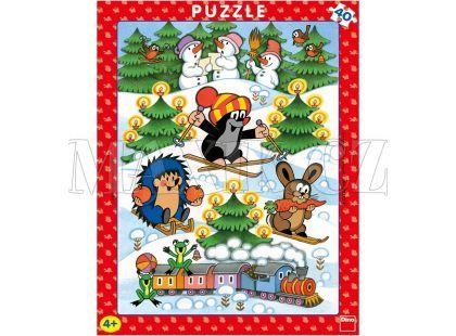 Dino Krteček Puzzle deskové Krtek na sněhu 40dílků
