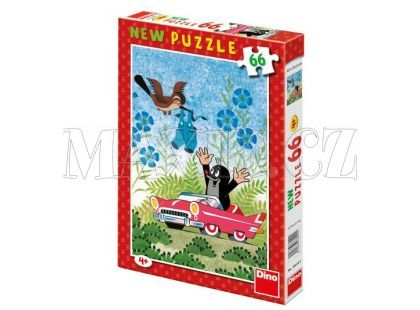 Dino Krteček Puzzle Krtek a auto 66d