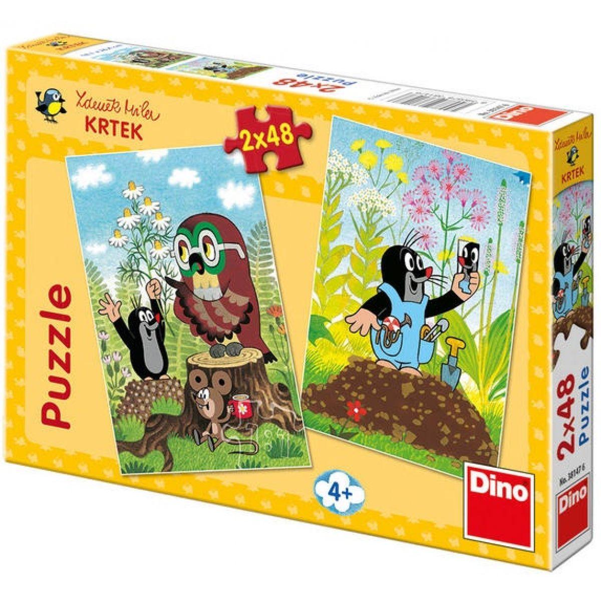 Dino Krteček Puzzle Krtek na mýtině 2x48d