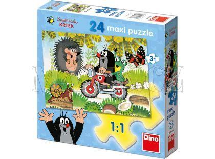 Dino Krteček Puzzle Maxi Krtek 24dílků