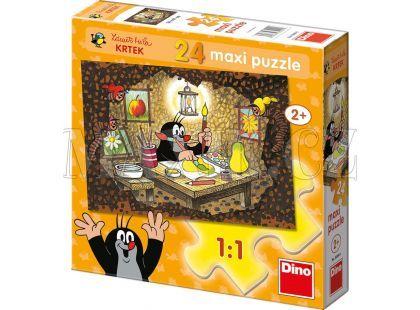 Dino Krteček Puzzle Maxi Krtek maluje 24dílků