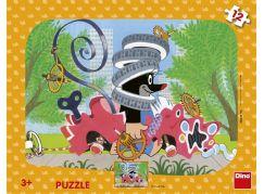 Dino Krtek opravář 12 dílků deskové tvary puzzle