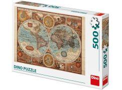 Dino Mapa Světa z roku 1626 puzzle 500 dílků