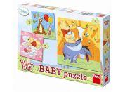 Dino Medvídek Pú Baby Puzzle Medvídek Pú