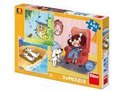 Dino Moje pohádky puzzle 3 x 55 dílků