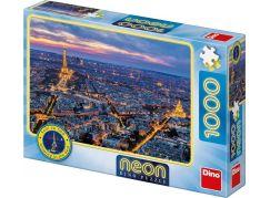 Dino Paříž v noci 100 dílků neon puzzle