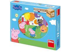 Dino Peppa Pig 12 dřevěné kostky