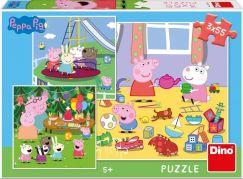 Dino Peppa Pig na prázdninách 3x55 puzzle