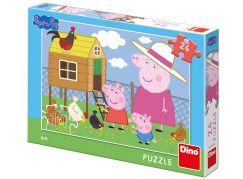 Dino Peppa Pig slepičky puzzle 24 dílků