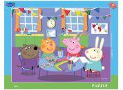 Dino Peppa Pig Ve školce deskové puzzle 40 dílků