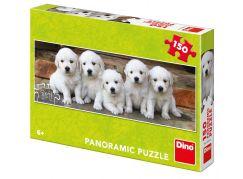 Dino Pět štěňátek panoramic puzzle 150 dílků