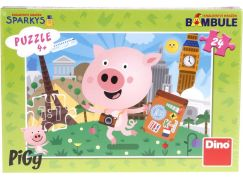 Dino Pigy Puzzle 24 dílků