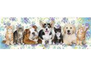 Dino Psi a kočky 150 dílků panoramic puzzle