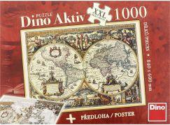Dino Puzzle Aktiv Historická mapa 1000 dílků