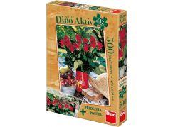 Dino Puzzle Aktiv Růže a předloha 500XXL dílků