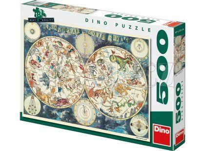 Dino Puzzle Astrologická mapa 500dílků