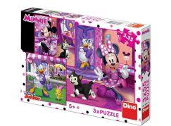 Dino Puzzle Den s Minnie 3 x 55 dílků