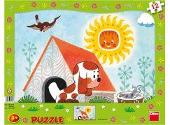 Dino Puzzle deskové Štěňátko 12dílků